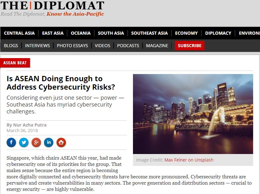 Is ASEAN Doing Enough to Address Cybersecurity Risks?