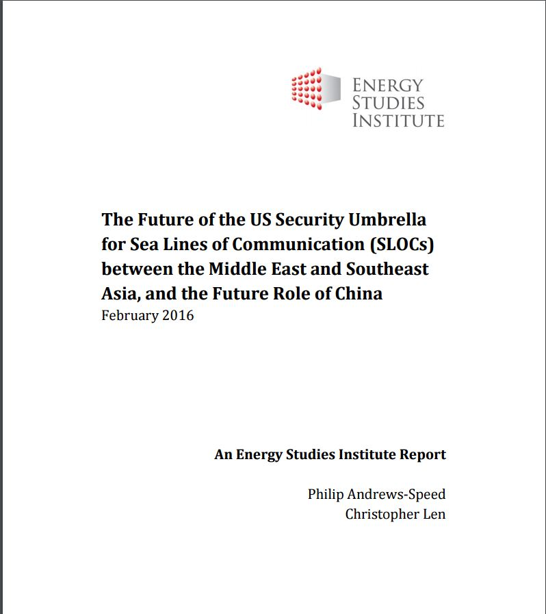 The Future of the US Security Umbrella for Sea Lines of Communication (SLOCs) between the Middle East and Southeast Asia, and the Future Role of China