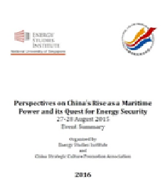 Perspectives on China's Rise as a Maritime Power and its Quest for Energy Security