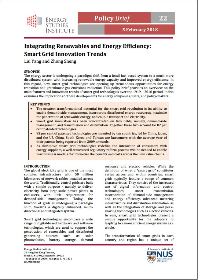 Integrating Renewables and Energy Efficiency: Smart Grid Innovation Trends