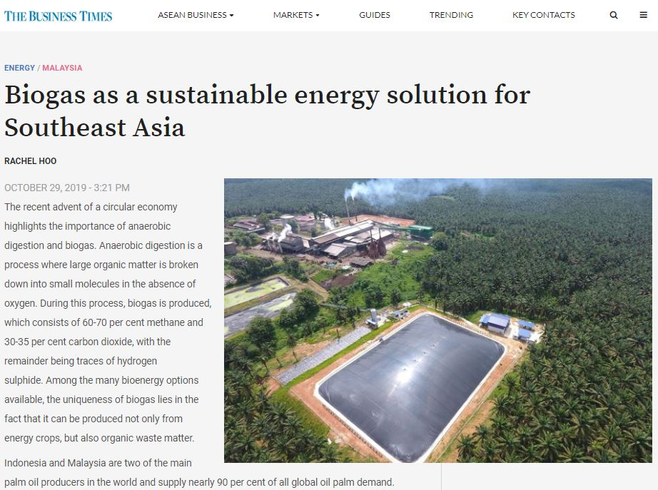 BIOGAS AS A SUSTAINABLE ENERGY SOLUTION FOR SOUTHEAST ASIA