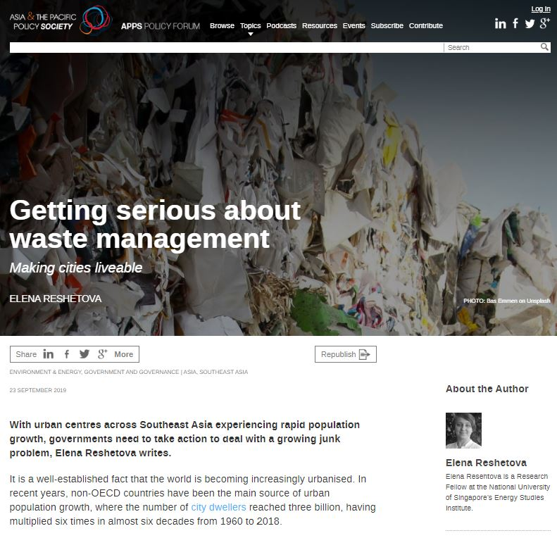 Getting Serious About Waste Management: Making Cities Liveable
